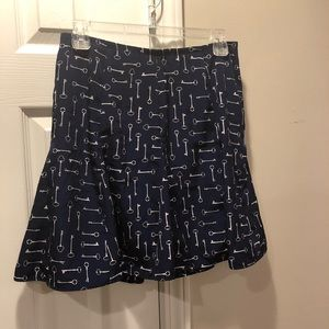 Banana Republic Fit n Flare Skeleton Key Skirt 2